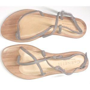 CORNETTI xRevolve Gray Suede Strappy Sandals NWOB